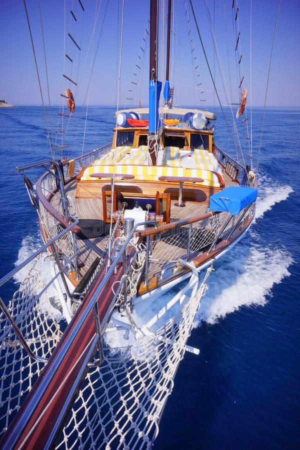 Iate, Gulet, turco do barco somente feito fotografia de stock royalty free