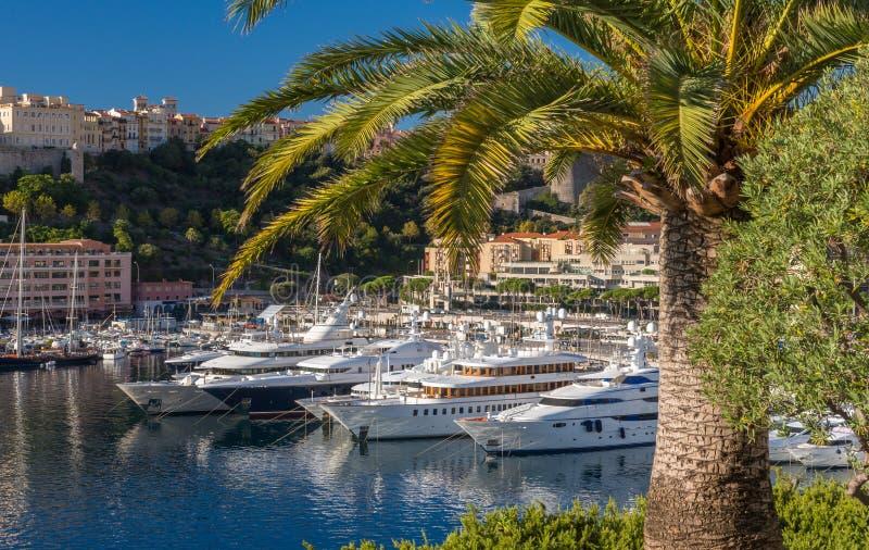 Iate luxuosos em Mônaco fotografia de stock