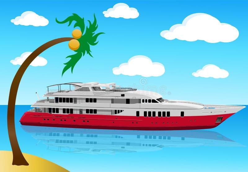 Iate moderno luxuoso ilustração royalty free