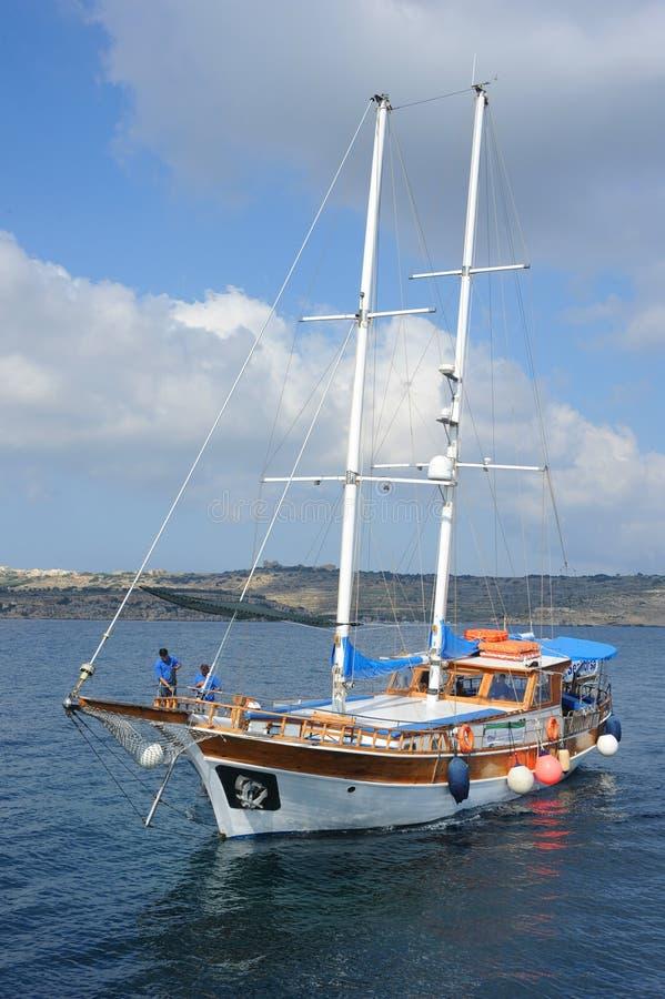 Iate turco de Gulet, Malta. imagem de stock