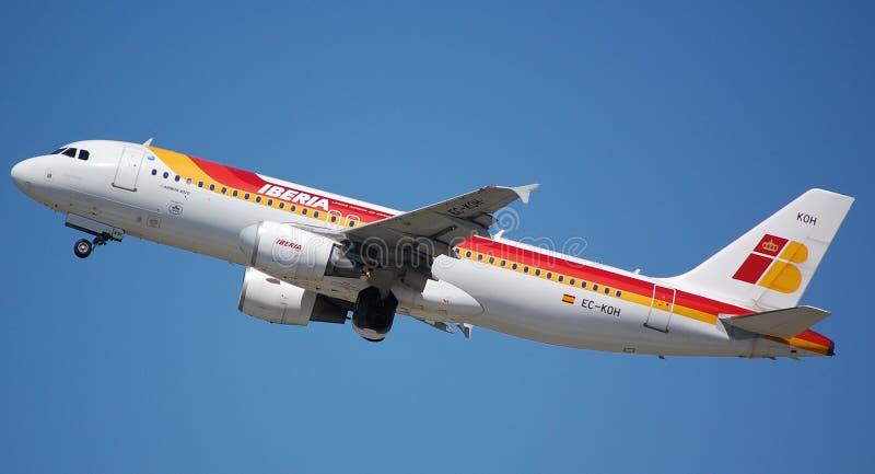 Ibéria Airbus 320 fotos de stock