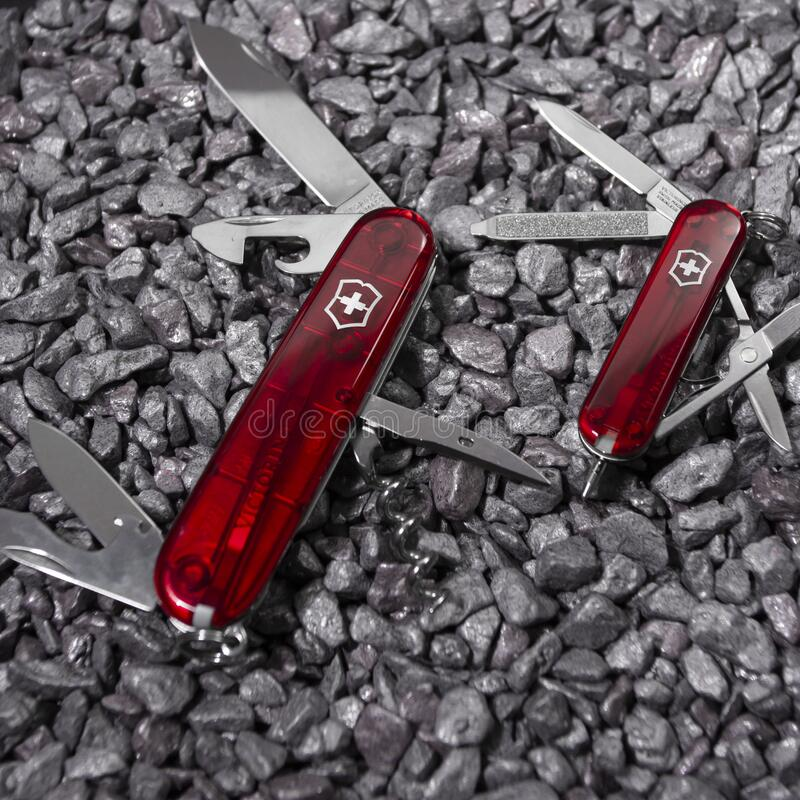 Free Ibach, Switzerland 02.02.2020 - Two Opened Swiss Army Knife Victorinox Royalty Free Stock Photo - 177750185