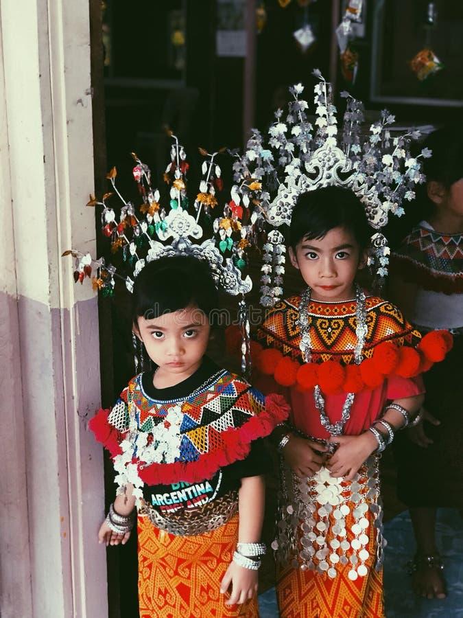 Iban Little Princesses royaltyfri bild