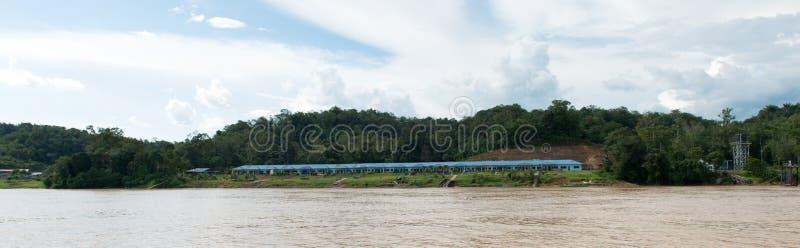Iban tribe longhouse in Sarawak royalty free stock photos
