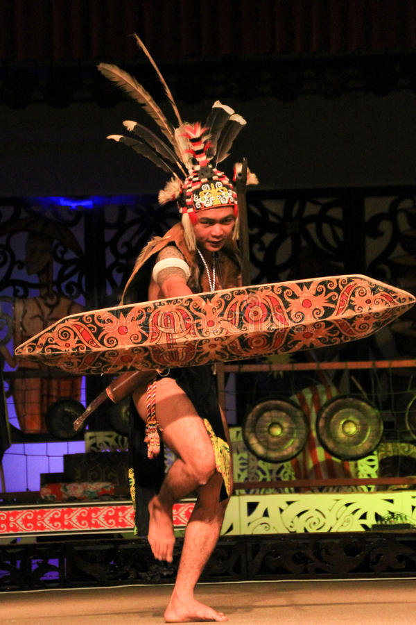 Iban Warrior stock photo