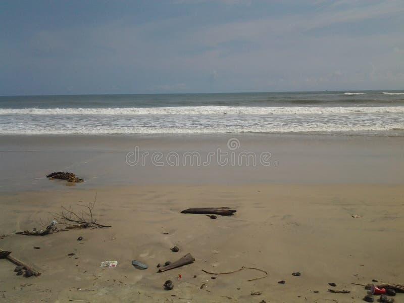Ibeno strand arkivbild