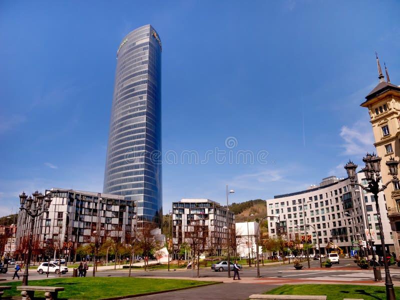 Iberdrola står hög i Bilbao, Spanien royaltyfri bild