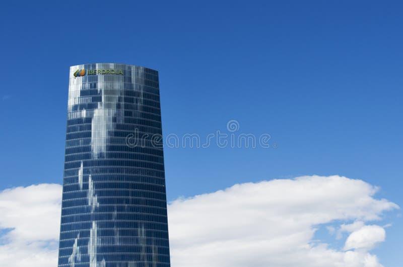 Iberdrola torn, Bilbao, Bizkaia, baskiskt land, Spanien royaltyfri bild
