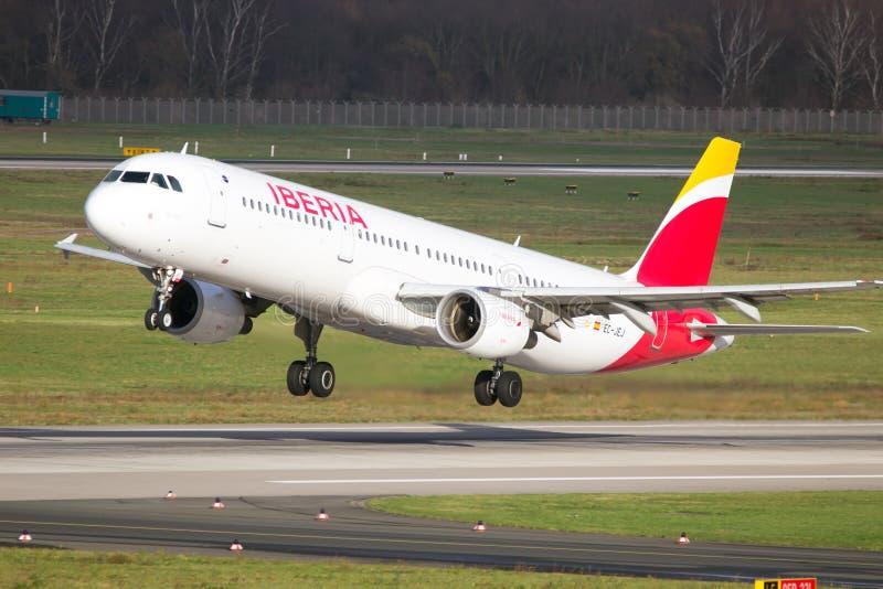 Iberia Aerobus A321 obraz stock