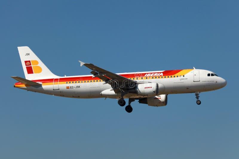 Iberia Aerobus A320 zdjęcie stock