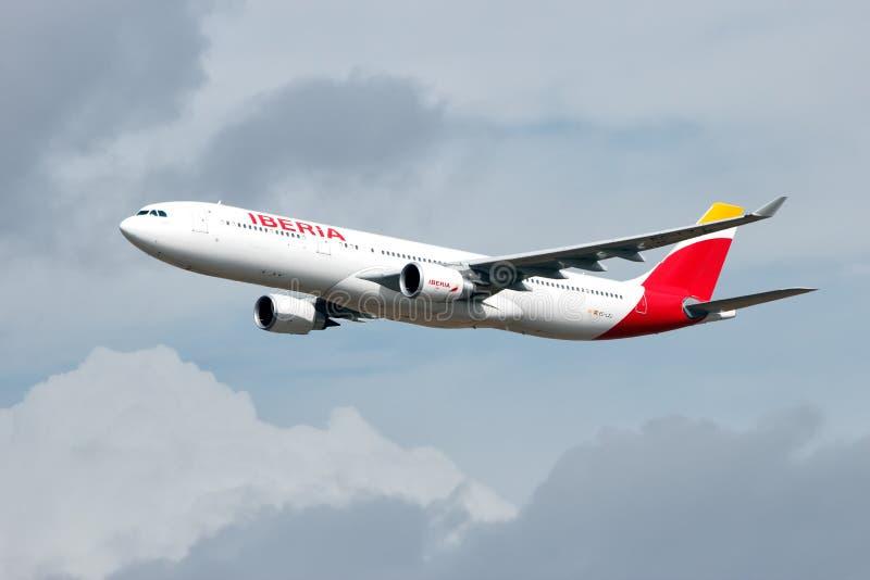 Iberia Airbus immagine stock libera da diritti