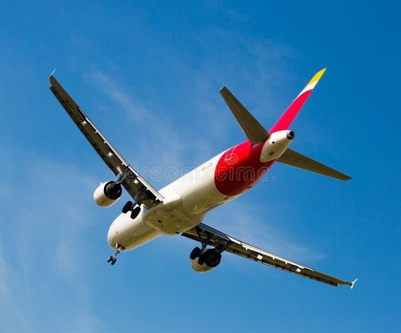 Iberia linii lotniczych płaski lądowanie fotografia stock