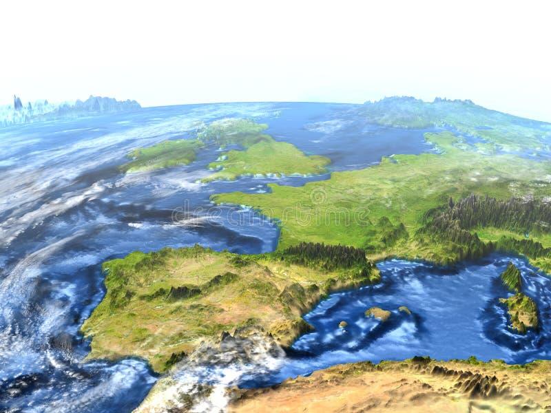 Iberia på jord - synligt havgolv royaltyfri illustrationer