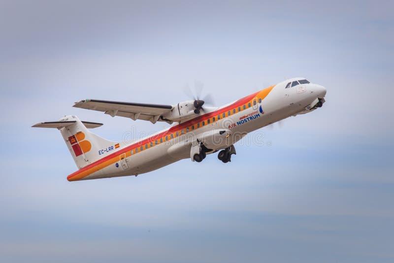 Iberia Regional aircraft taking off stock photos