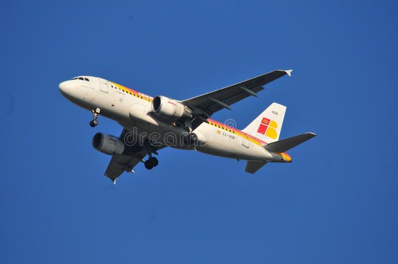 Iberia samolot obrazy stock