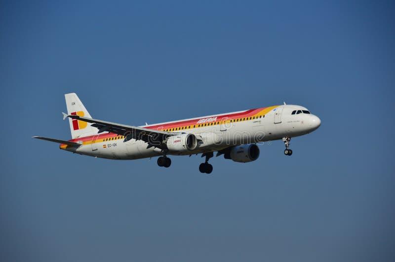 Iberia samolot zdjęcia stock