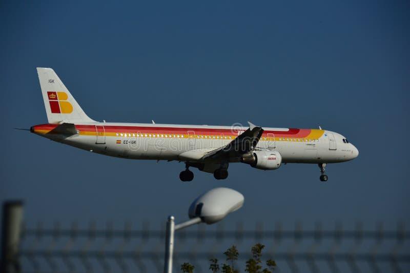 Iberia samolot fotografia royalty free