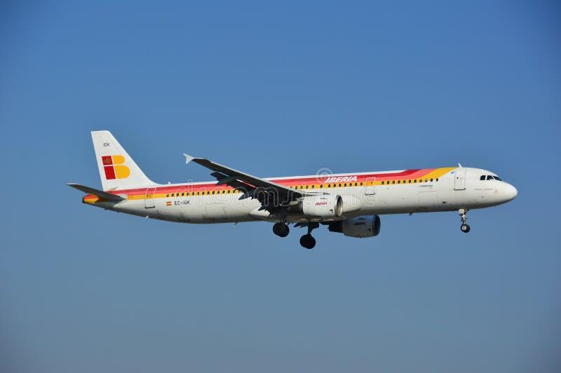 Iberia samolot obraz stock