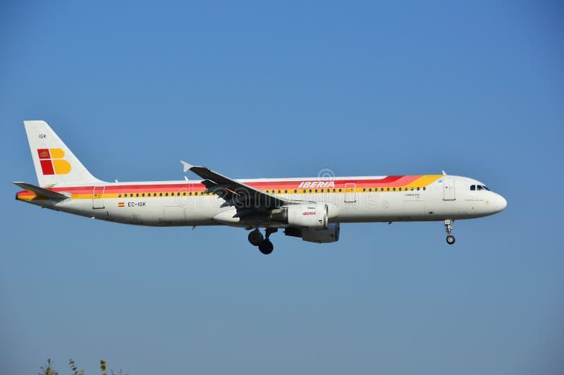 Iberia samolot zdjęcie stock