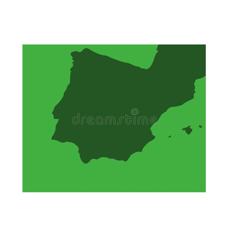 Iberian Peninsula map - Spain and Portugal. Vector file of Iberian Peninsula map - Spain and Portugal royalty free illustration