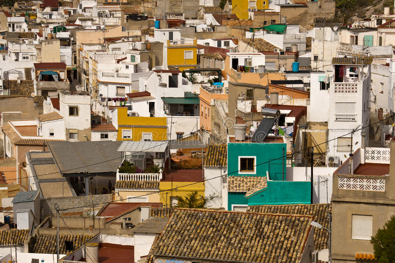 Iberian town stock photos