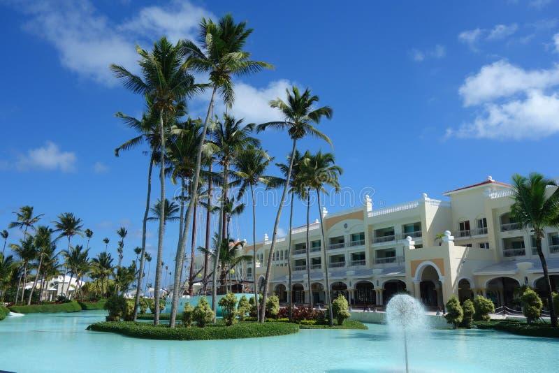 Iberostar Grand Hotel Bavaro semesterort i Punta Cana, Dominikanska republiken royaltyfri bild