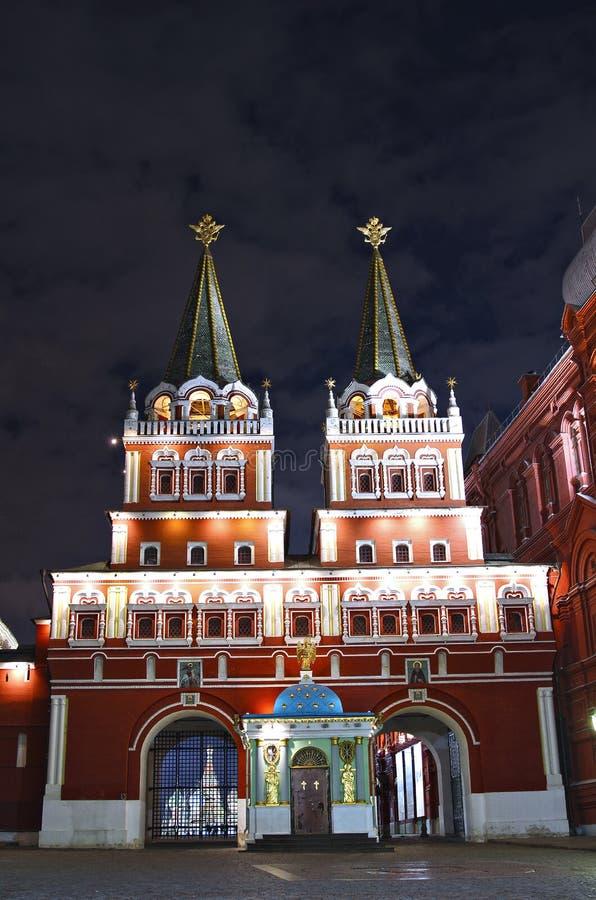 Iberyjska (rezurekci) bramy i Iver kaplica na placu czerwonym w Moskwa fotografia royalty free