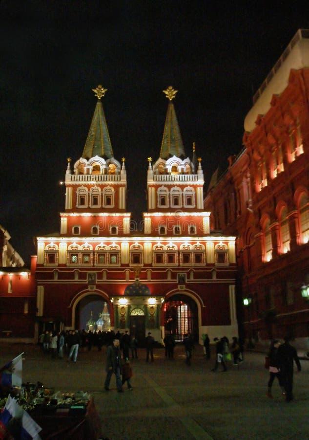Iberyjski (rezurekci) bramy i Iver chapelin Moskwa, Rosja zdjęcie stock