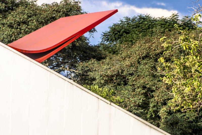 Ibirapuera观众席的门面在圣保罗 免版税库存图片