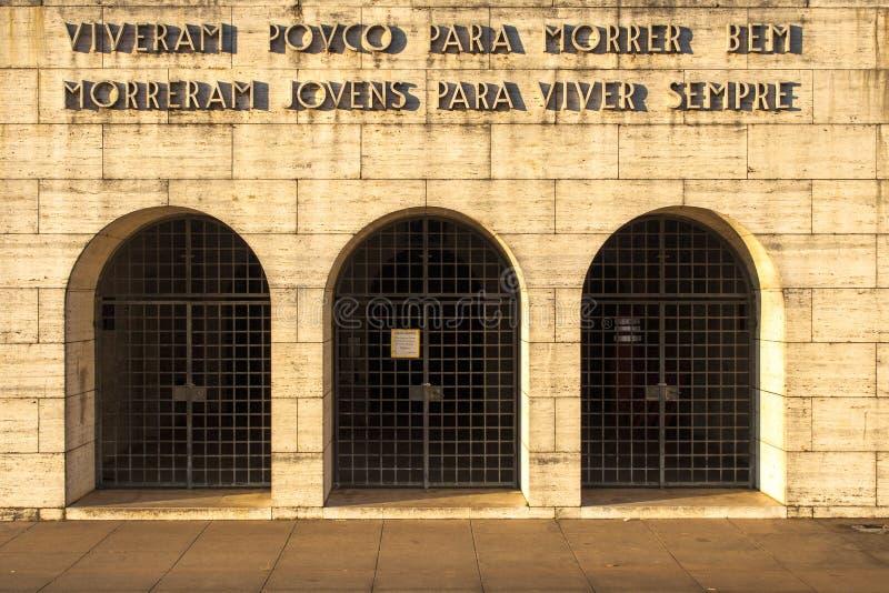 Ibirapuera parkerar arkivfoto
