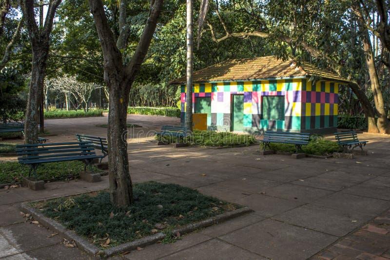 Ibirapuera parkerar royaltyfria bilder