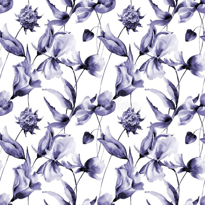 Ibisco con i fiori di Cosmea royalty illustrazione gratis