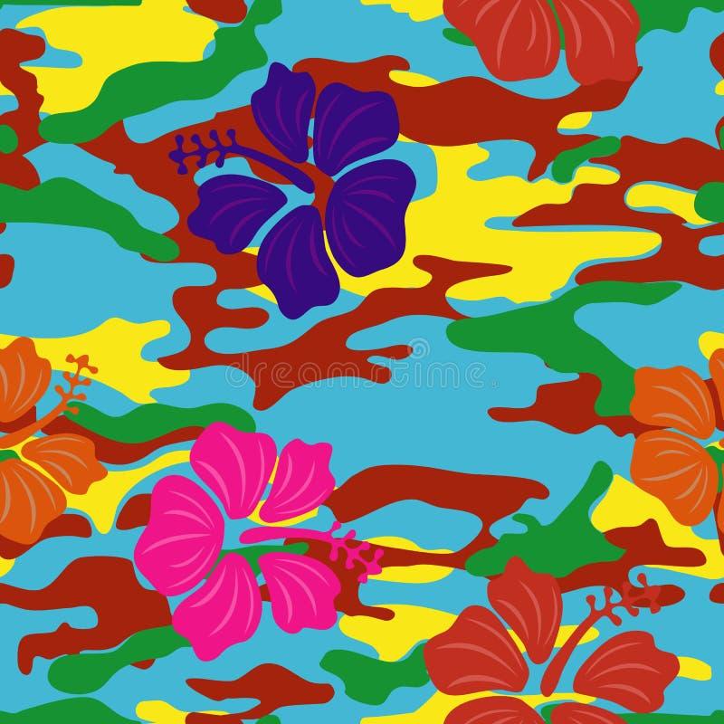 Ibisco multicolore immagini stock