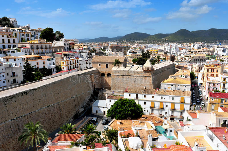 Ibiza城镇 库存照片