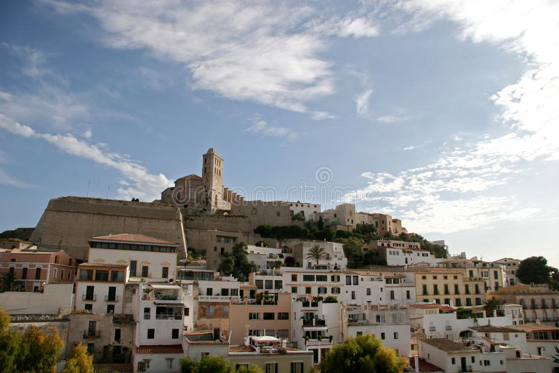 ibiza西班牙城镇 库存图片