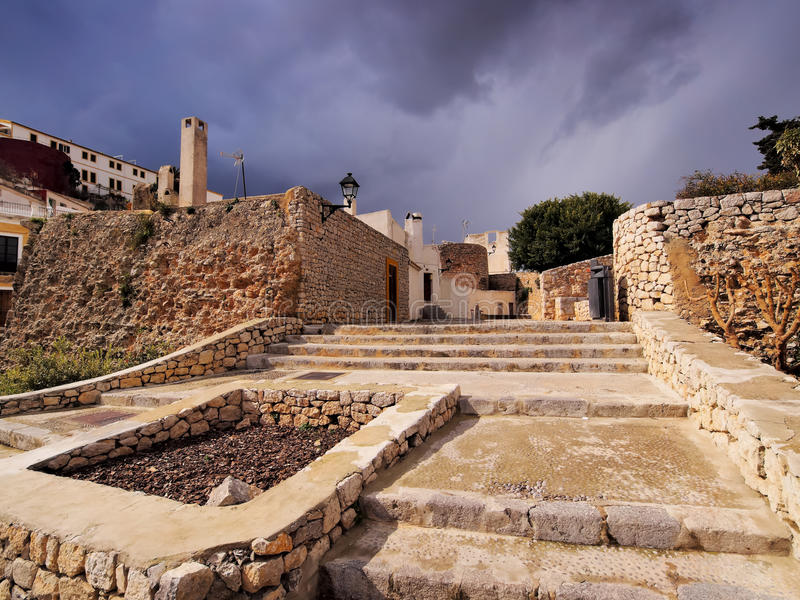 Ibiza镇,巴利阿里群岛 免版税库存照片