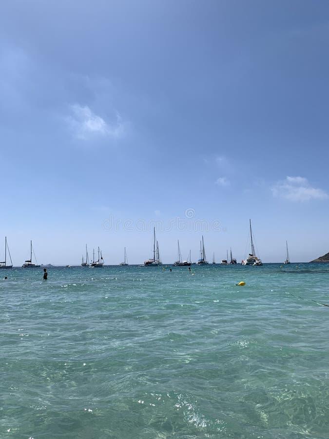 Ibiza Beach imagem de stock royalty free