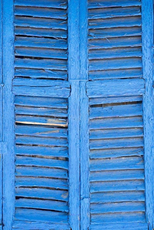Ibiza blåttfönster royaltyfri bild