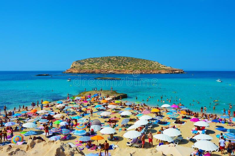 Ibiza Cala Comte obrazy stock