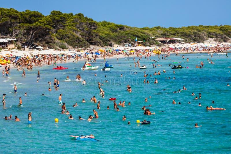 Ibiza Cala de Sant Vicent AUGUST 20, 2013: caleta de san vicent imagens de stock