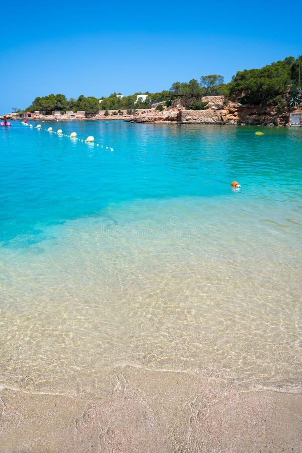 Ibiza Cala Gracio Gracioneta strand royaltyfri foto