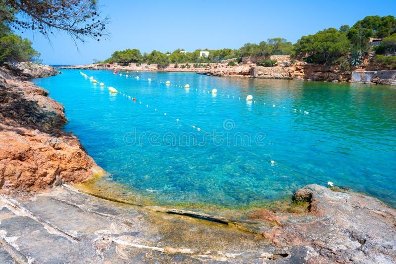 Ibiza Cala Gracio Gracioneta strand arkivfoton