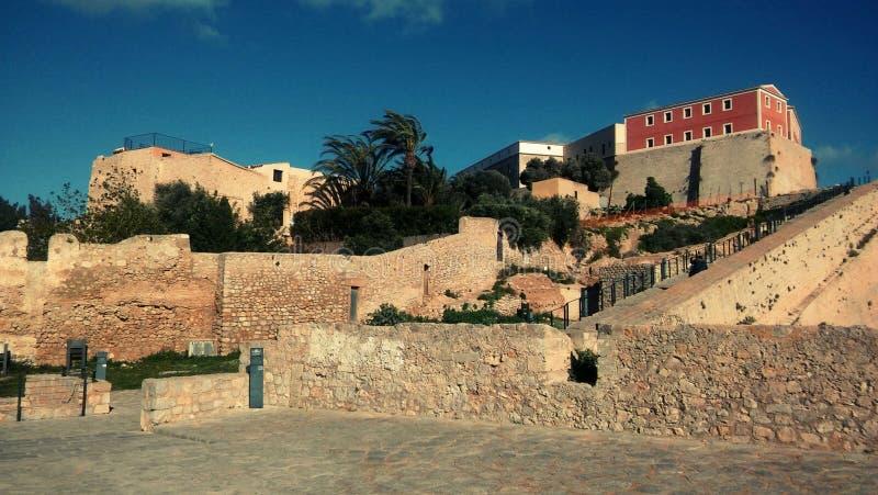 Ibiza, cidade velha de Eivissa fotos de stock