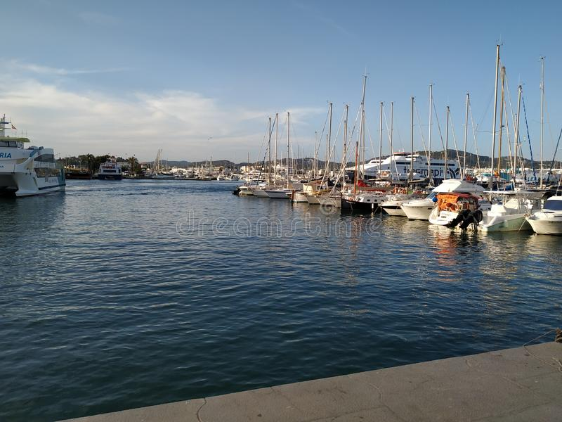 Ibiza do porto imagens de stock royalty free