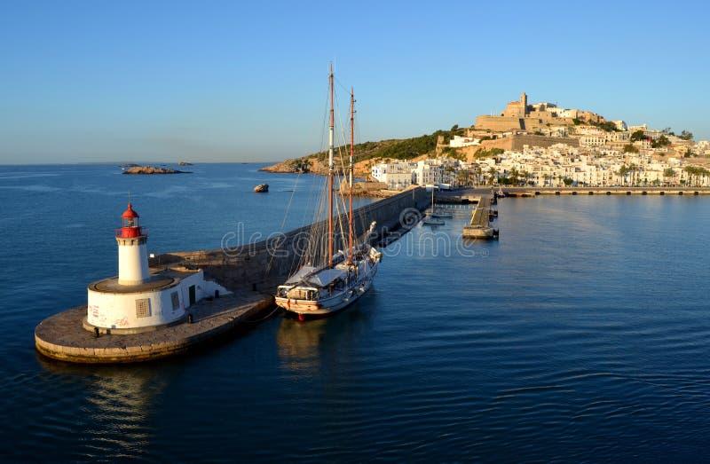 Ibiza harbour sunrise royalty free stock images