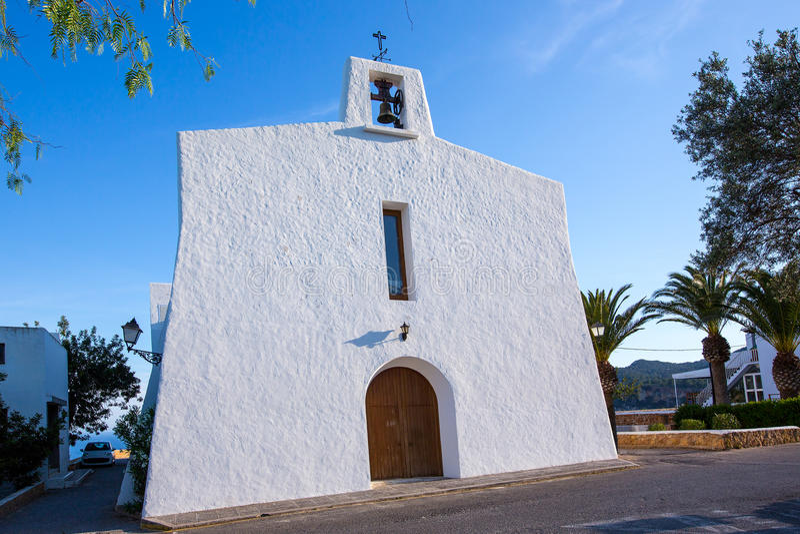 Ibiza Es Cubells Church In San Jose At Balearic Stock Images