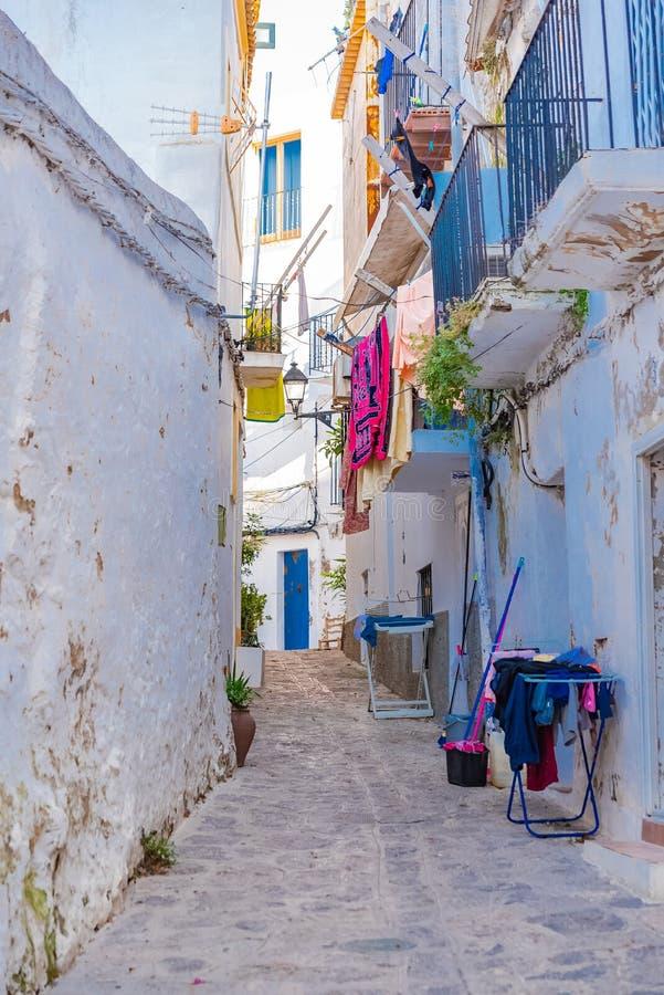 Ibiza, España, calle fotografía de archivo