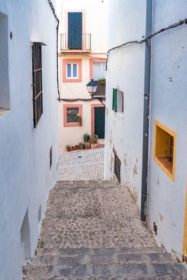 Ibiza, Espanha, rua típica imagens de stock