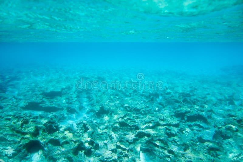 Ibiza Formentera undervattens- rocks i turkoshavet arkivbild
