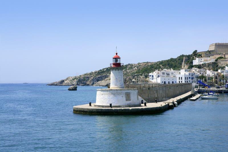 Ibiza Grenzsteininsel im Mittelmeer lizenzfreies stockfoto